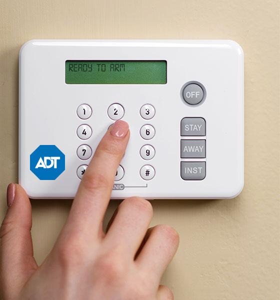 ADT home security keypad