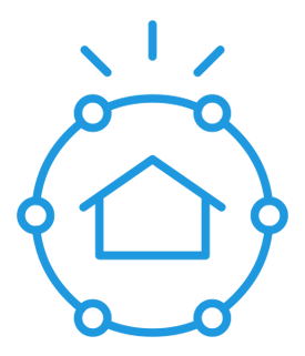 Smart home security system icon