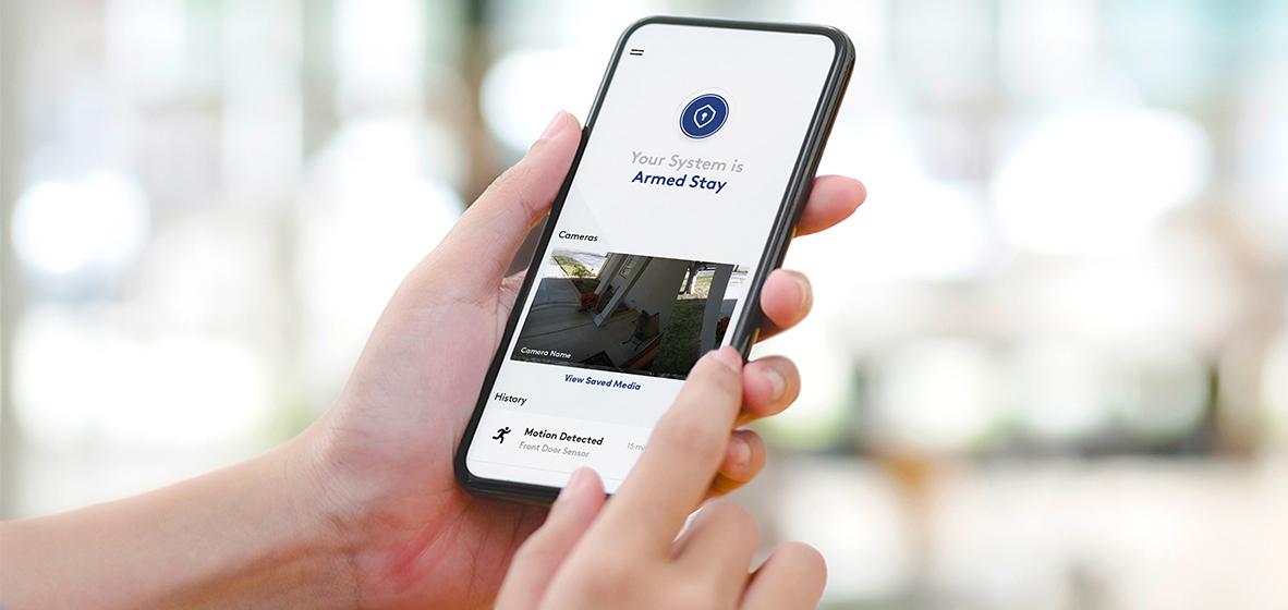 Self-monitoring - man rining doorbell